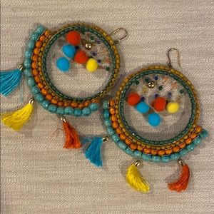 Rosantica- Merida bead and tassel earrings